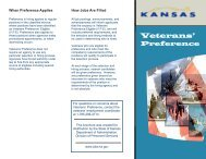 Veterans Preference Brochure - Department of Administration