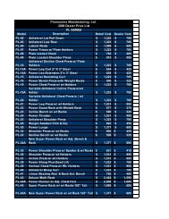 Promaxima Manufacturing, Ltd. 2008 Dealer Price List Model ...
