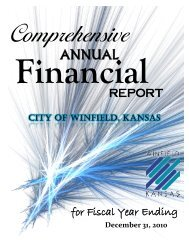 CITY OF WINFIELD, KANSAS - Department of Administration