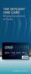 THE SKYLIGHT ONE CARD