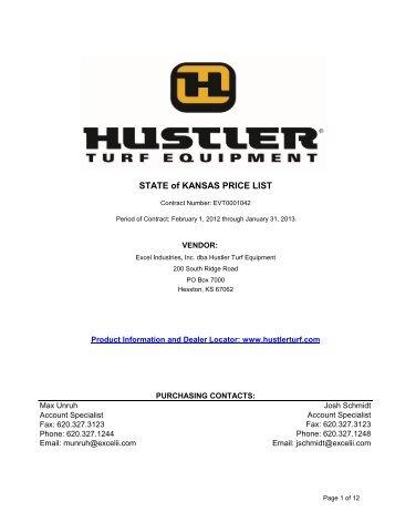 Hustler turf zeon cost