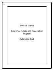 State of Kansas Employee Award and Recognition Program ...