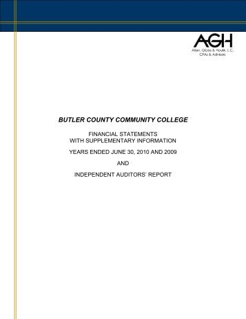 butler county community college - Department of Administration