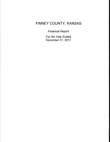 FINNEY COUNTY, KANSAS - Department of Administration