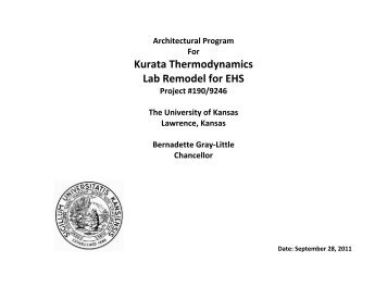 Kurata Thermodynamics Lab Remodel for EHS - Department of ...