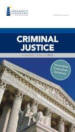 CRIMINAL JUSTICE - Jones & Bartlett Learning