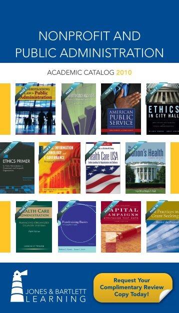 nonprofit and public administration - Jones & Bartlett Learning