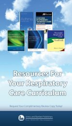 Resources For Your Respiratory Care Curriculum - Jones & Bartlett ...