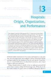 Hospitals: Origin, Organization, and Performance - Jones & Bartlett ...