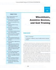 Wheelchairs, Assistive Devices, and Gait Training - Jones & Bartlett ...