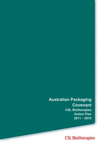 Download Action Plan - Australian Packaging Covenant