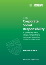 LLM in Corporate Social Responsibility - University of Stirling