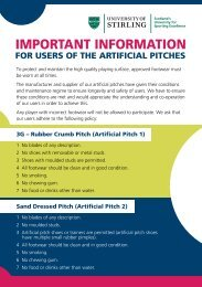 Artificial pitch guidelines - University of Stirling