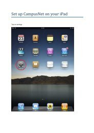 Set up on campus VPN on your Ipad