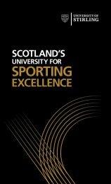Sport Strategy - University of Stirling