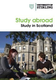 Study Abroad prospectus - University of Stirling