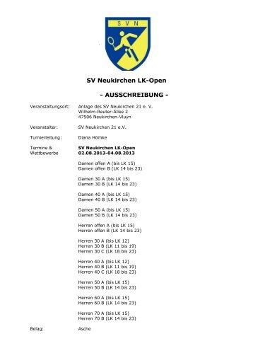 1851-83-Ausschreibung LK Turnier SV Neukirchen ... - TVPro-online