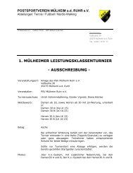 Ausschreibung 1. Mülheimer LK Turnier - TVPro-online