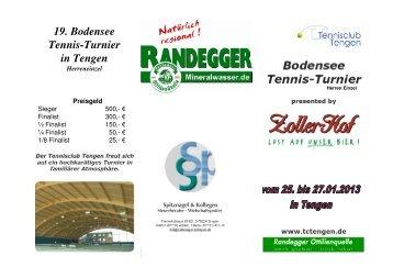 Ausschreibung Bodensee Tennis Turnier 2013
