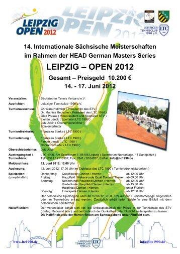 Ausschreibung der LEIPZIG OPEN 2012 - Leipziger Tennisclub ...