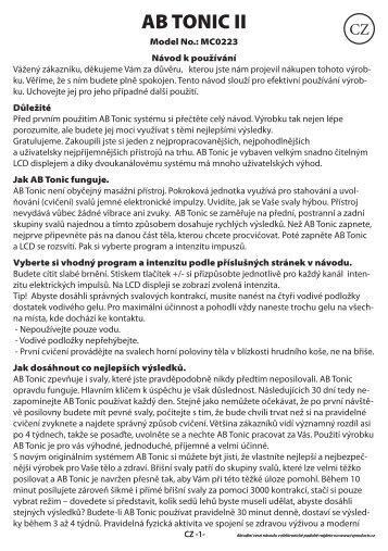 AB TONIC II.pdf - tv products cz