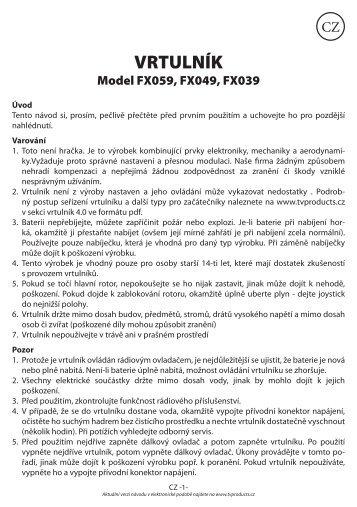 VRTULNÍK - tv products cz