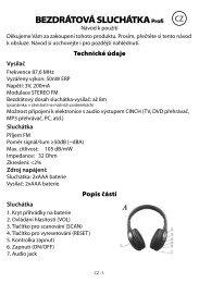 navod bezdratova sluchatka profi.indd - tv products cz
