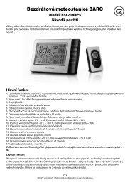Bezdrátová meteostanice BARO - tv products cz