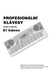 PROFESIONÁLNÍ KLÁVESY - tv products cz