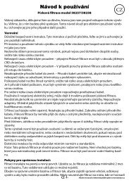 navod piskova filtrace 58257.indd - tv products cz