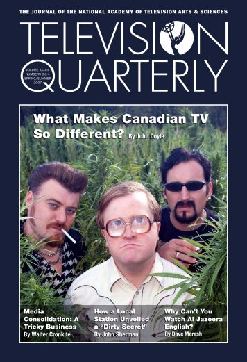 What Makes Canadian TV So Different? - TVQ Volume XXXVII ...