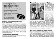 Turnerheim Ausgabe 2011 Nr. 2 - Turnverein Ried 1848