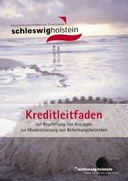 Kreditleitfaden - Tourismusverband Schleswig-Holstein