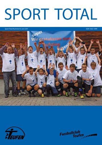 Sport total Nummer 8 | Juni 2011 ISSN 1663-1099 - TV Teufen