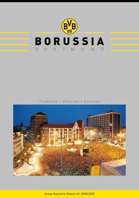Quarterly Financial Report 1st Quarter 2008/2009 - BVB Aktie ...