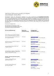 Jährliches Dokument gemäß § 10 WpPG Geschäftsjahr 2010/2011
