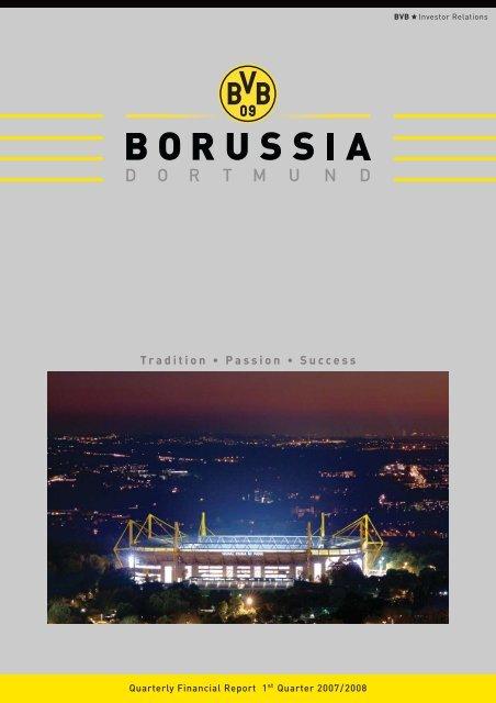 Quarterly Financial Report 1st Quarter 2007/2008 - BVB Aktie ...