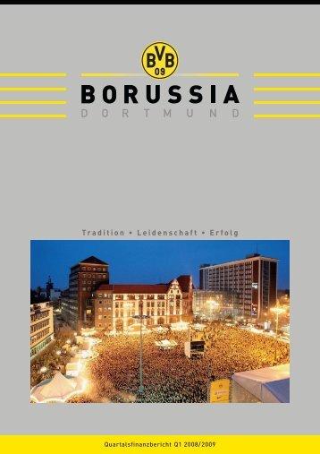 Quartalsfinanzbericht 1. Quartal 2008/2009 - BVB Aktie - Borussia ...