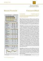 Silvia Quandt Research GmbH - BVB Aktie - Borussia Dortmund