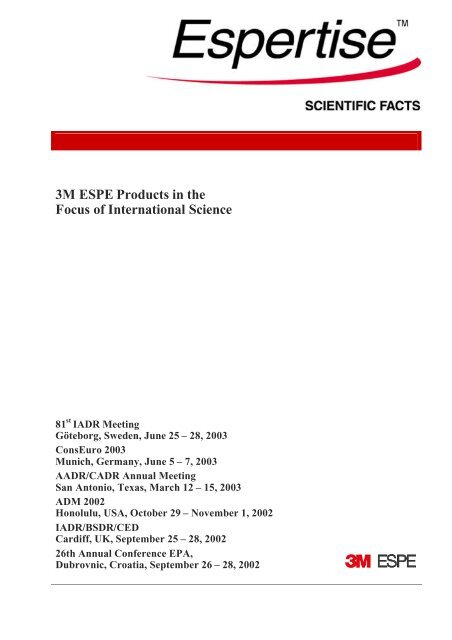 50cec5421 3M ESPE Products in the Focus of International Science