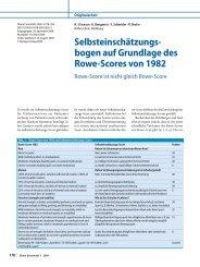 Selbsteinschätzungs- bogen auf Grundlage des Rowe ... - DVSE