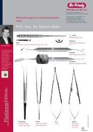 Priv.-Doz. Dr. Rainer Hahn - Hu-Friedy