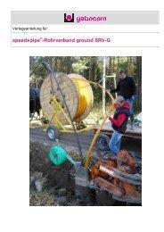 Verlegeanleitung für SRV-G Ausgabe 10 - Kuster Netcom AG