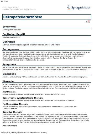 Retropatellararthrose