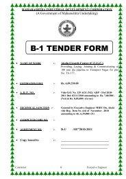 b-1 tender form - Maharashtra Industrial Development Corporation