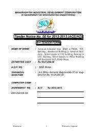 Tender Notice No. 08 for 2012-2013 (ACE(NZ) - Maharashtra ...