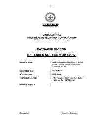 RATNAGIRI DIVISION B-1 TENDER NO. 4 (3) of 2011-2012.