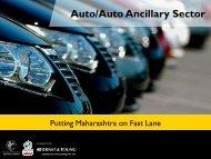 Auto/Auto Ancillary Sector - Maharashtra Industrial Development ...