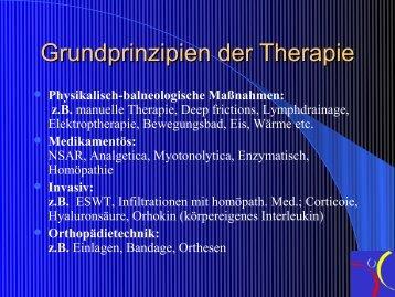 Grundprinzipien der Therapie
