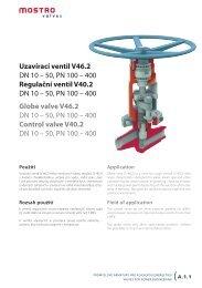 Uzavírací ventil V46.2 DN 10 – 50, PN 100 – 400 Regulační ... - Net